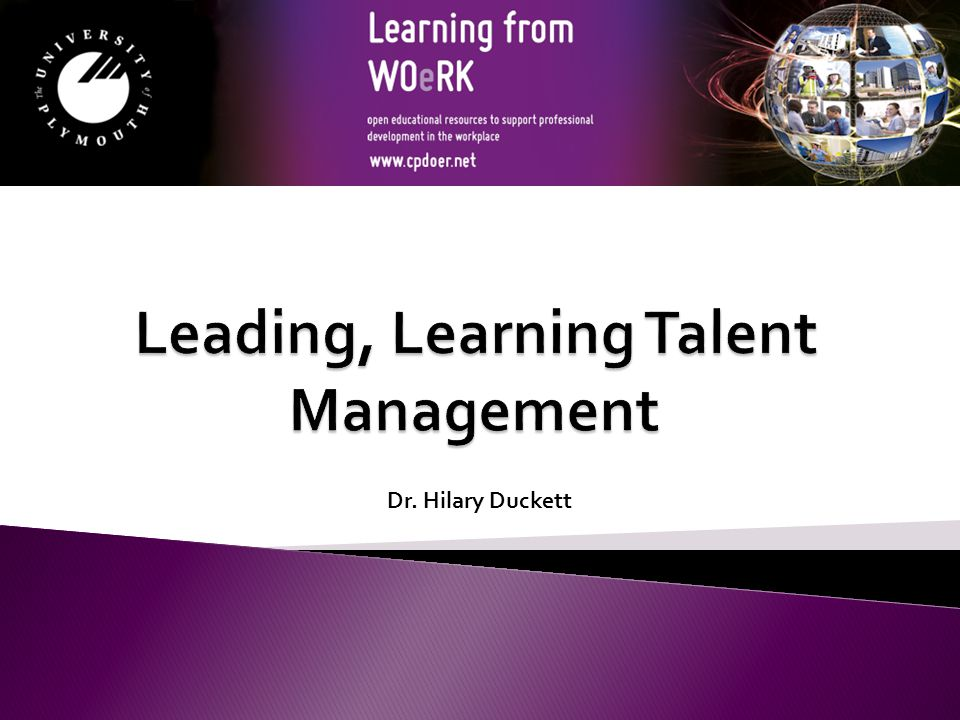 Leading, Learning Talent Management