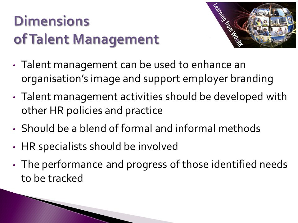 Dimensions of Talent Management