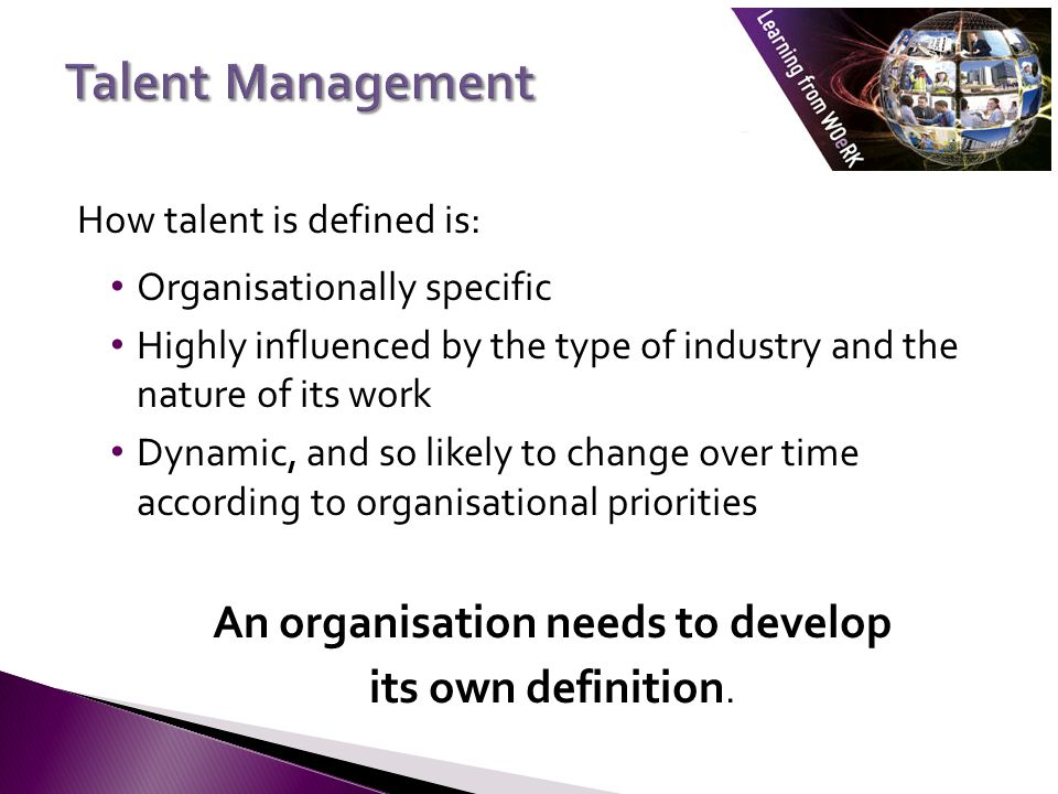 An organisation needs to develop