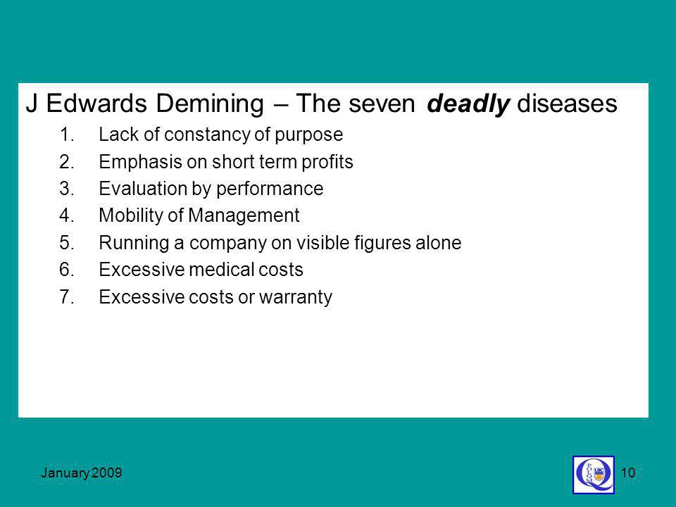 J Edwards Demining – The seven deadly diseases