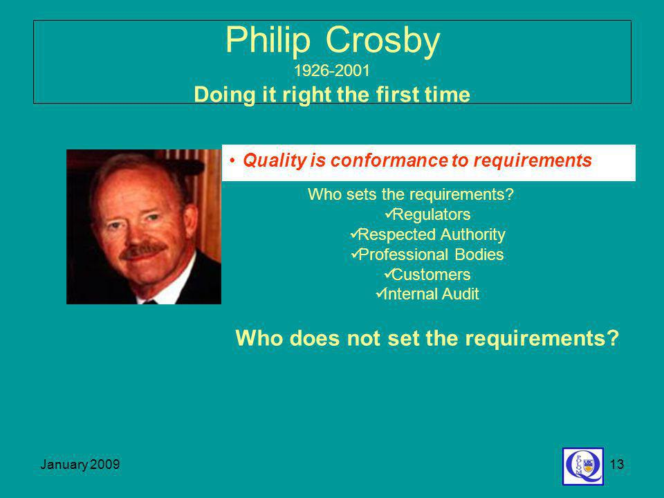 Philip Crosby 1926-2001 Doing it right the first time