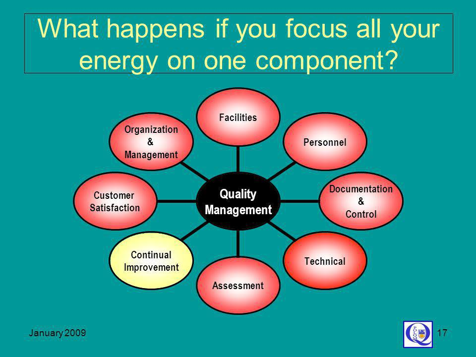 What happens if you focus all your energy on one component