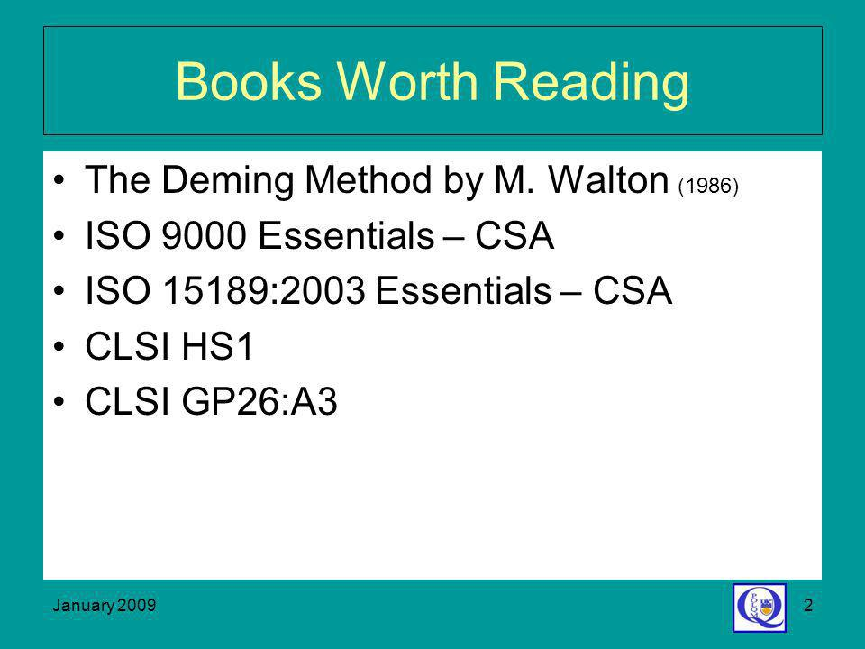Books Worth Reading The Deming Method by M. Walton (1986)