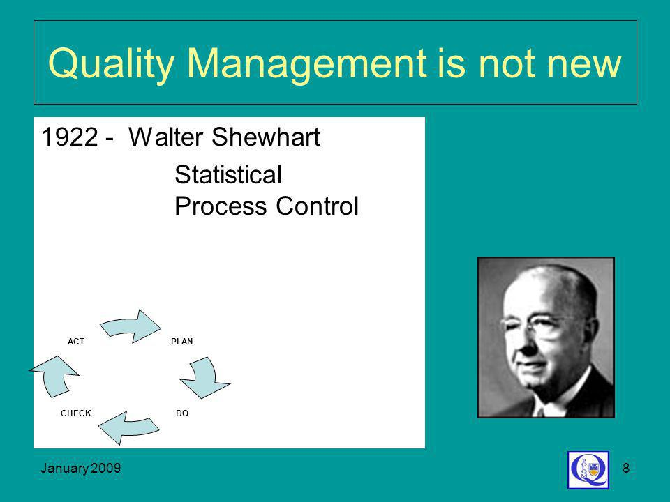 Quality Management is not new
