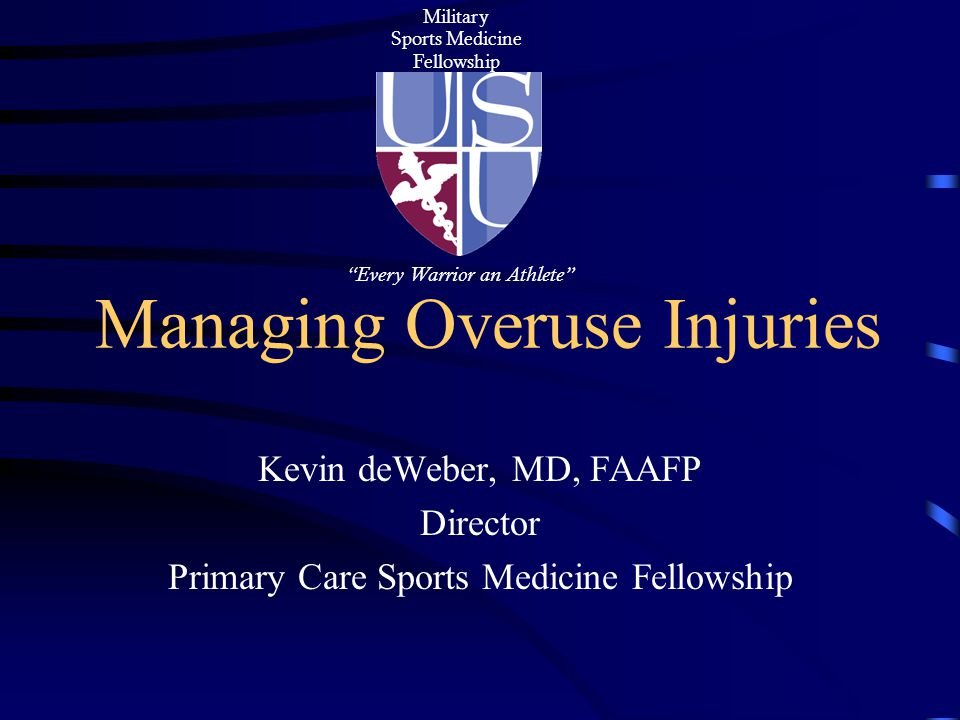 Managing Overuse Injuries