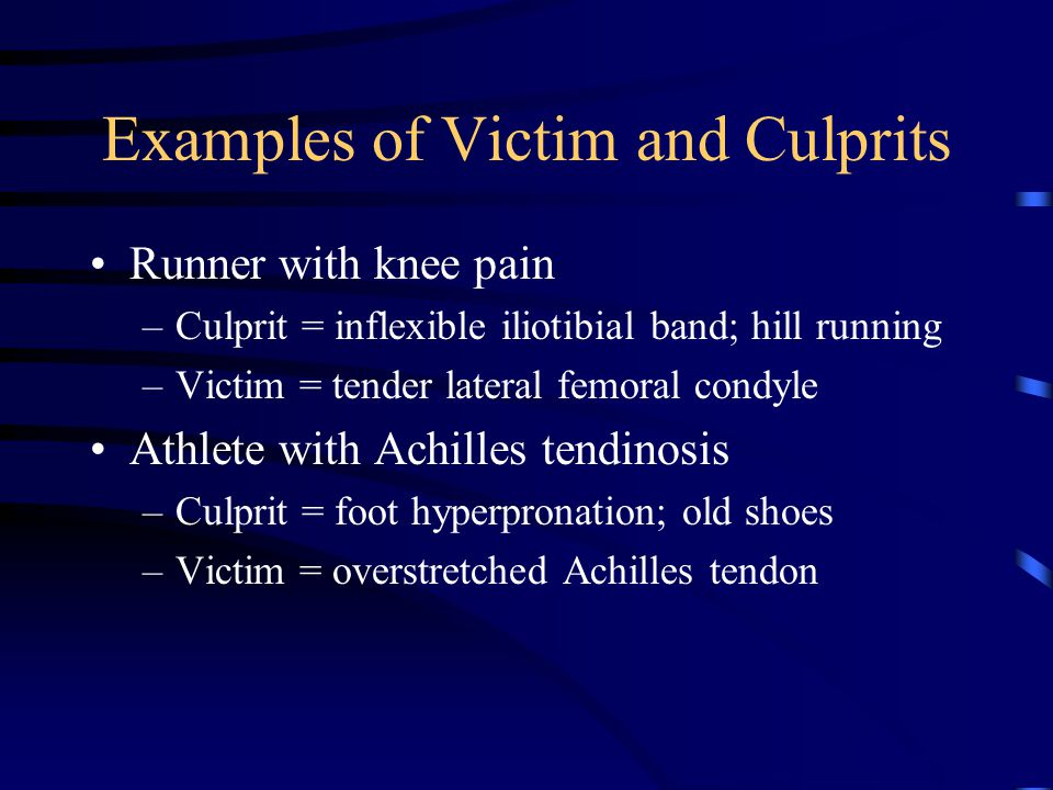 Examples of Victim and Culprits