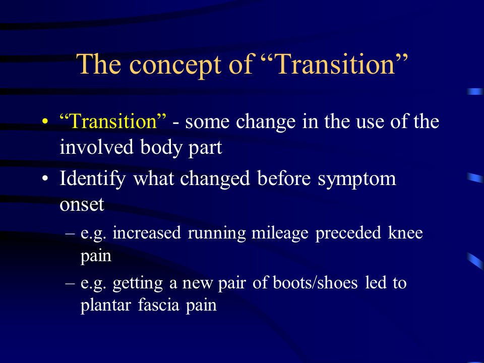 The concept of Transition