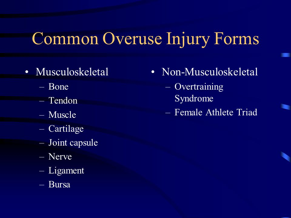 Common Overuse Injury Forms