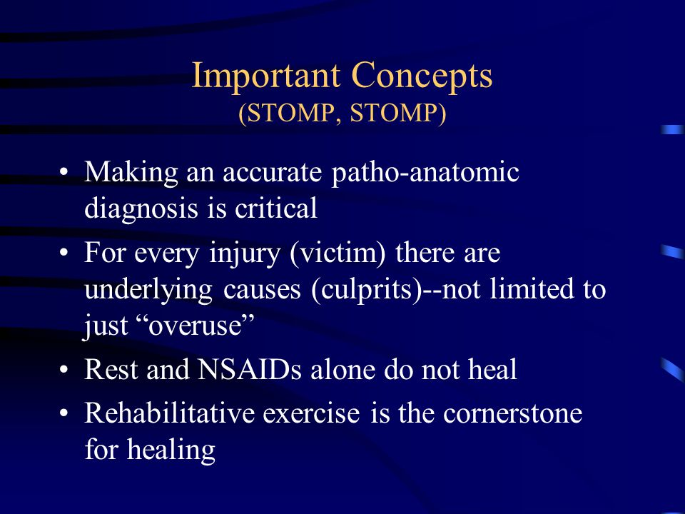 Important Concepts (STOMP, STOMP)