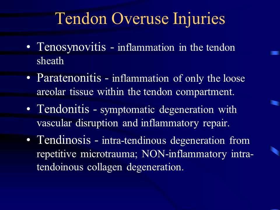 Tendon Overuse Injuries