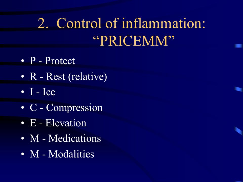 2. Control of inflammation: PRICEMM