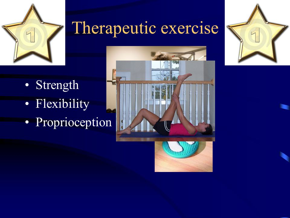 Therapeutic exercise Strength Flexibility Proprioception