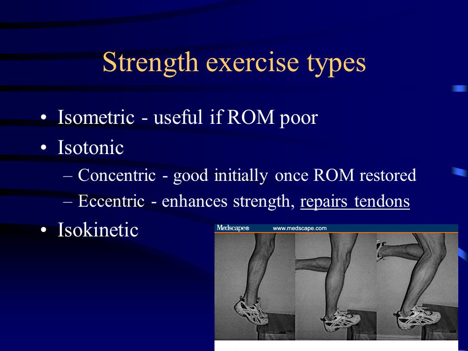 Strength exercise types