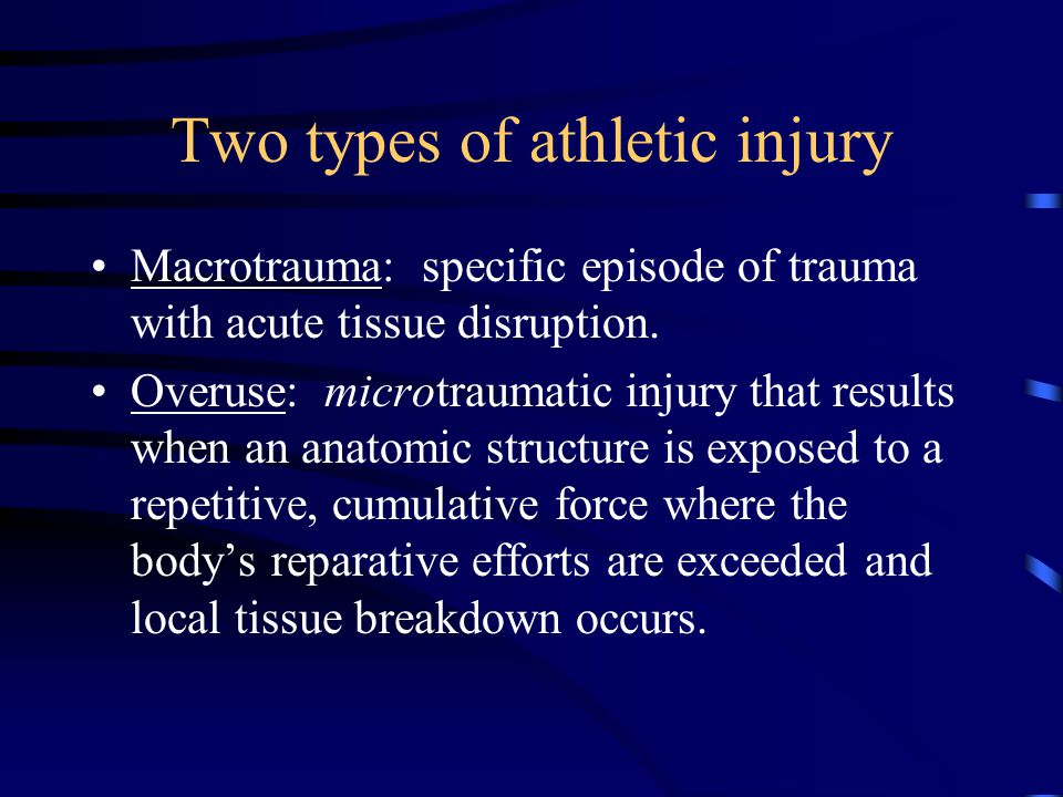 Two types of athletic injury