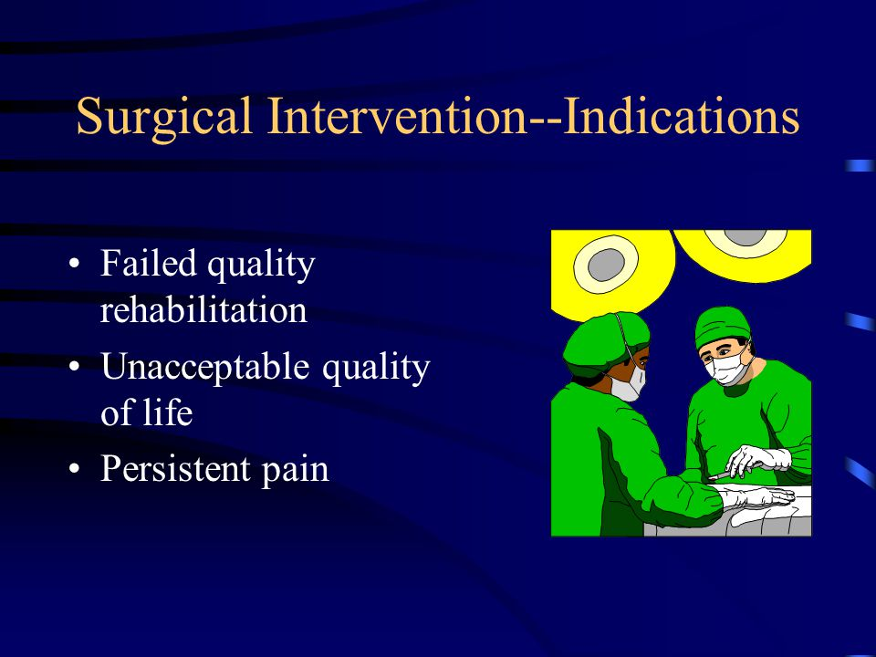 Surgical Intervention--Indications