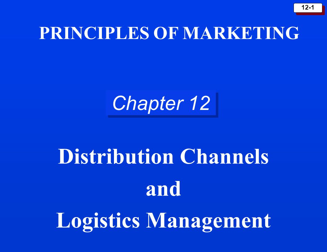 distribution channels and logistics management Start studying chapter 15: marketing channels & supply chain management learn vocabulary, terms, and more with flashcards, games, and other study tools.