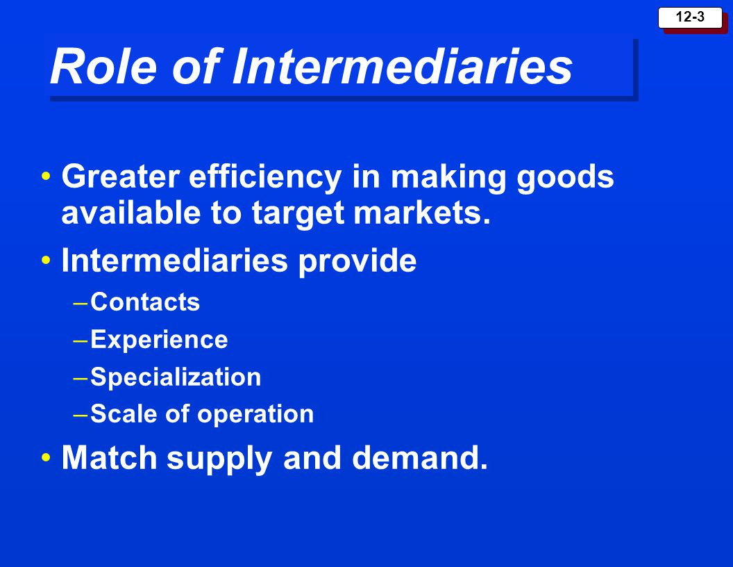 Role of Intermediaries