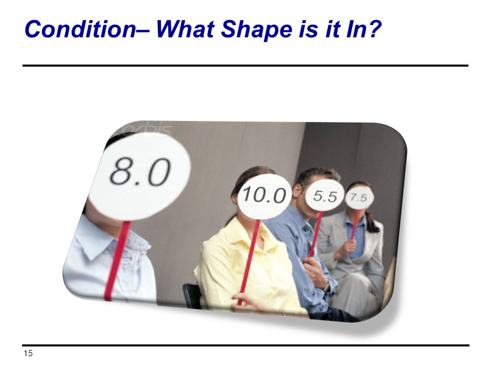 Condition– What Shape is it In