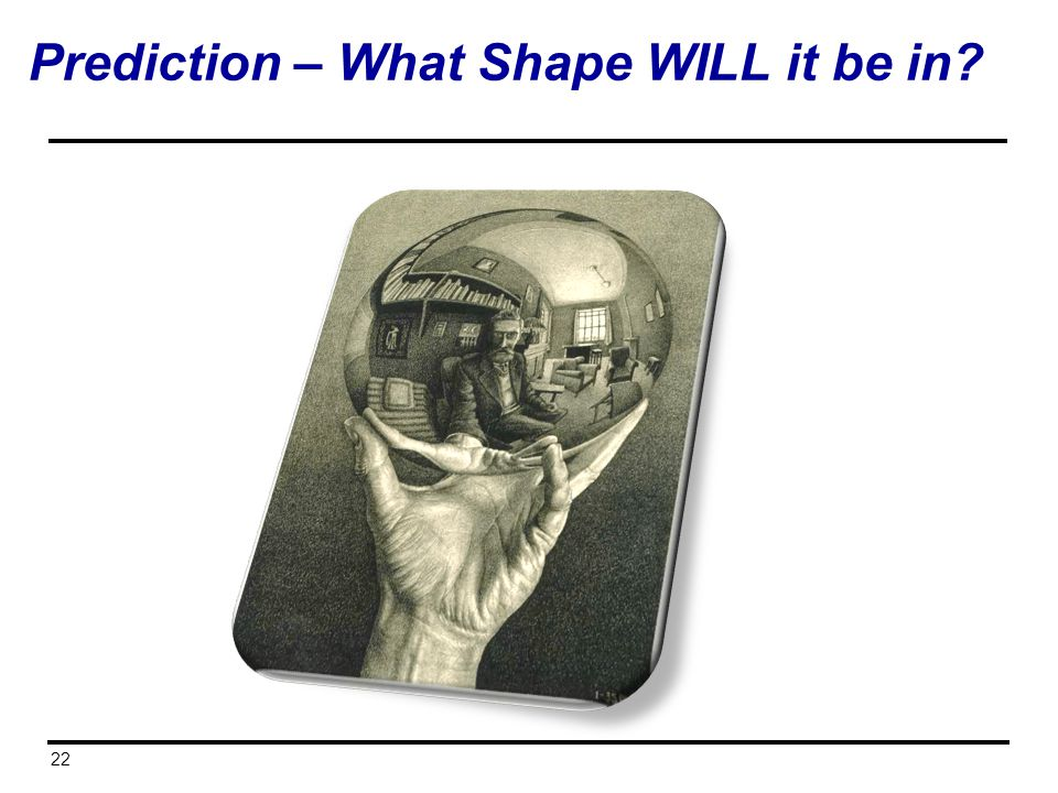 Prediction – What Shape WILL it be in