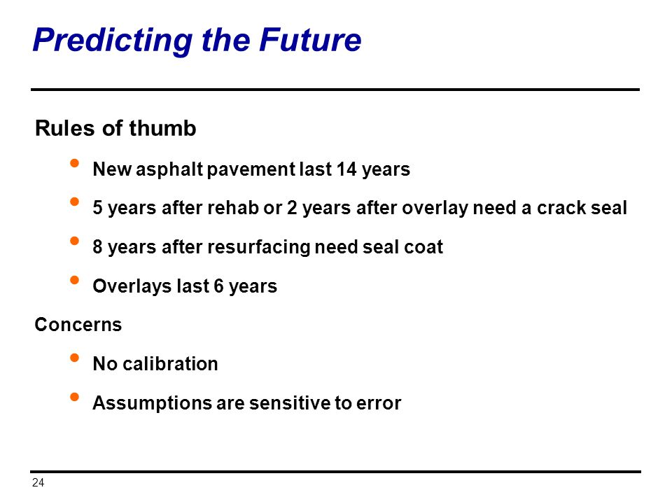Predicting the Future Rules of thumb