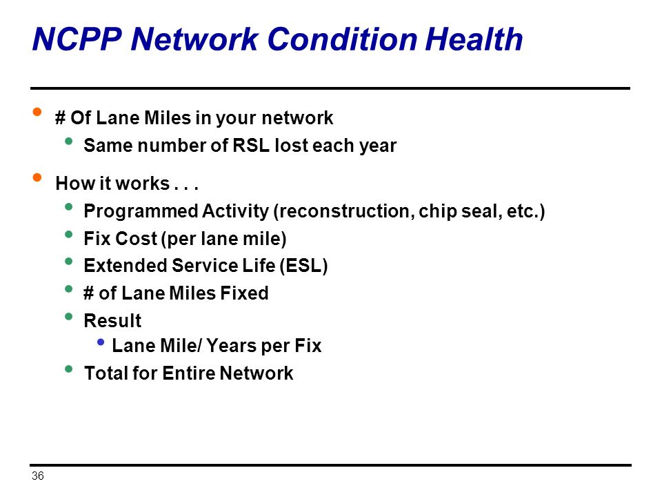 NCPP Network Condition Health