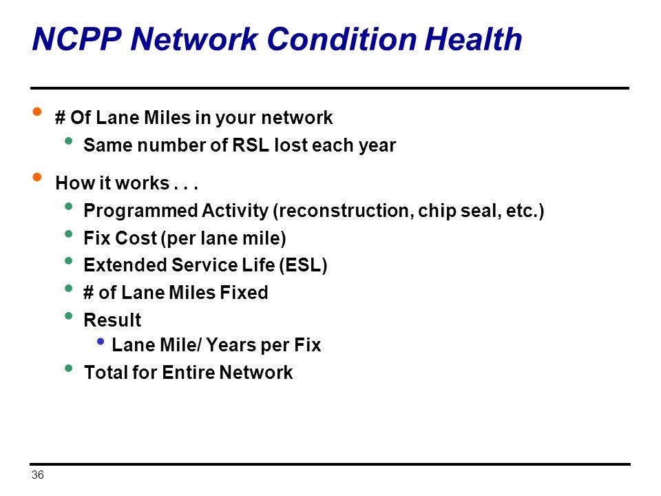 NCPP Network Condition Health