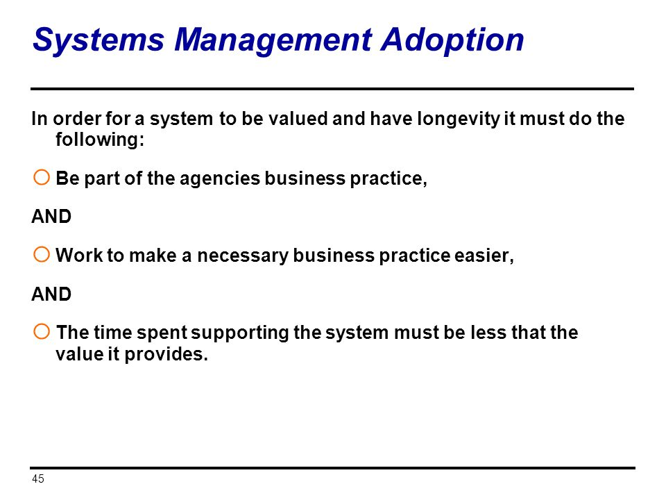 Systems Management Adoption