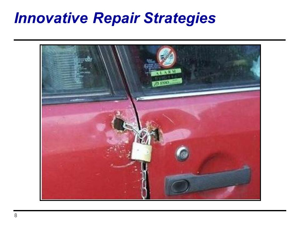 Innovative Repair Strategies