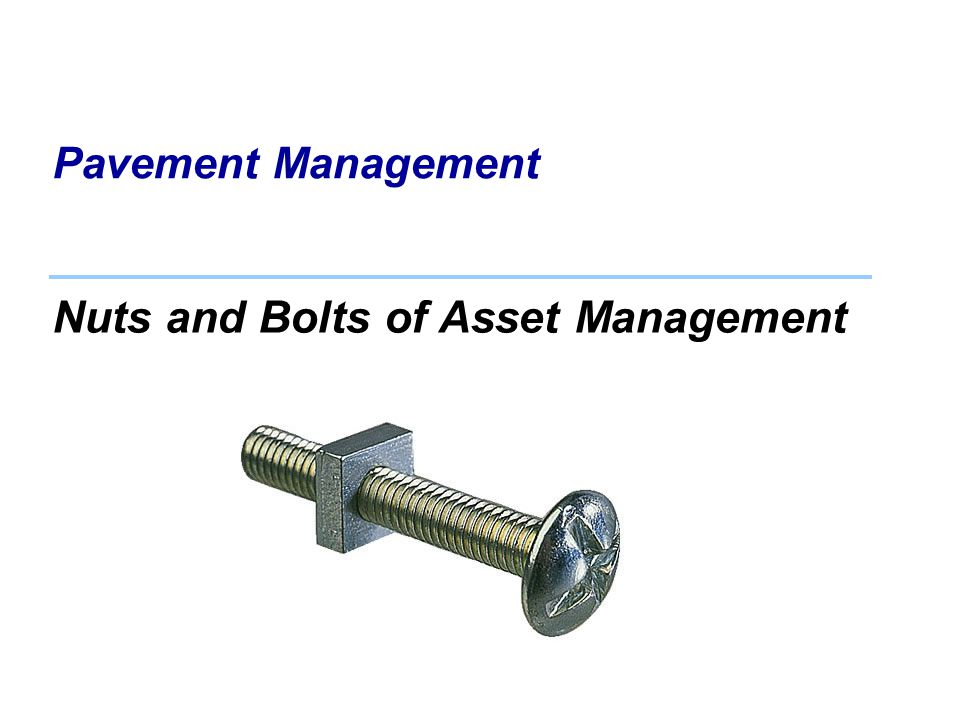 Nuts and Bolts of Asset Management