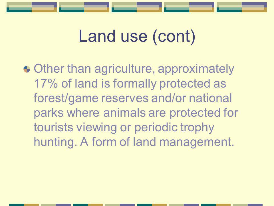 Land use (cont)