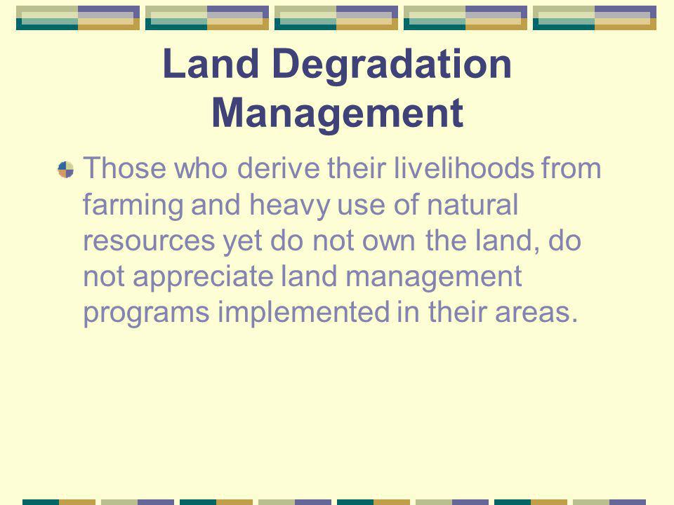 Land Degradation Management