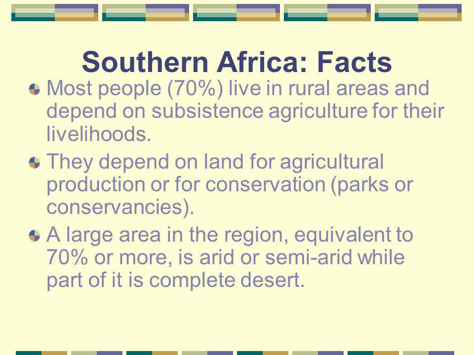 Southern Africa: Facts