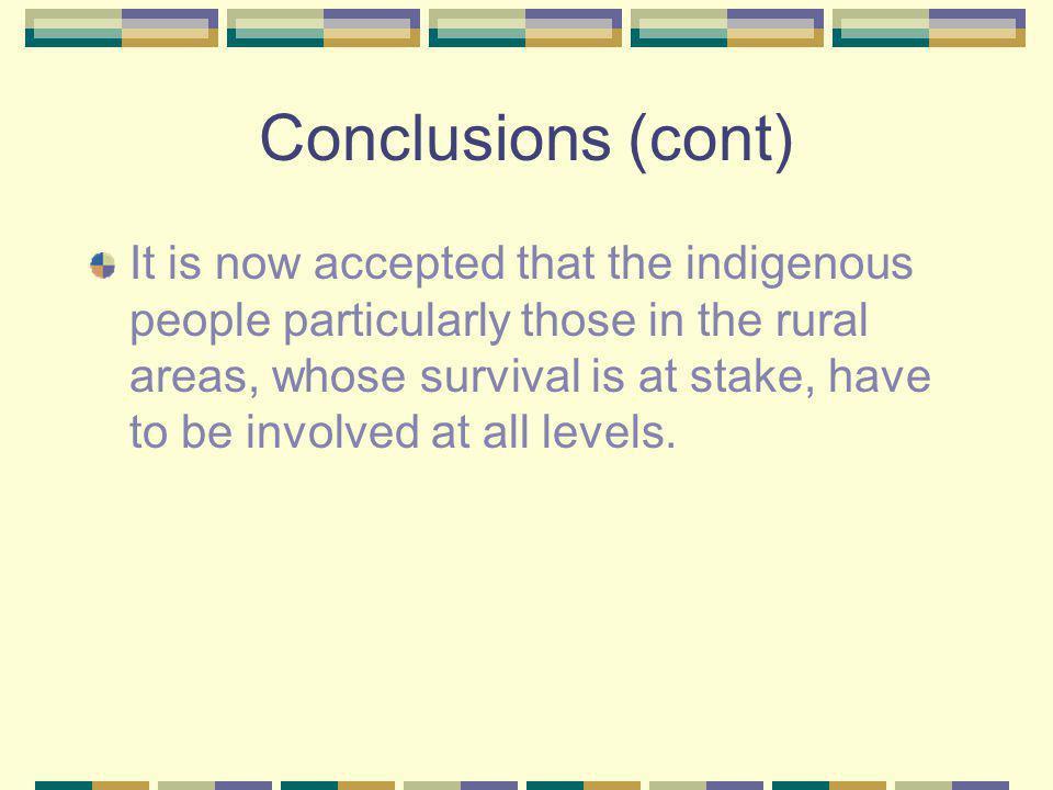 Conclusions (cont)