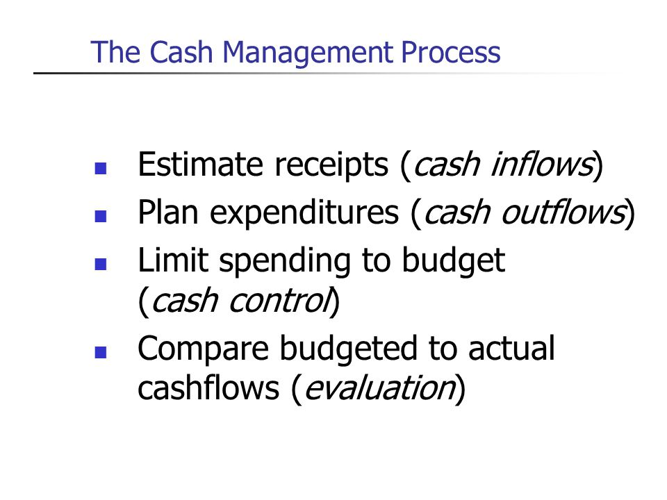 The Cash Management Process