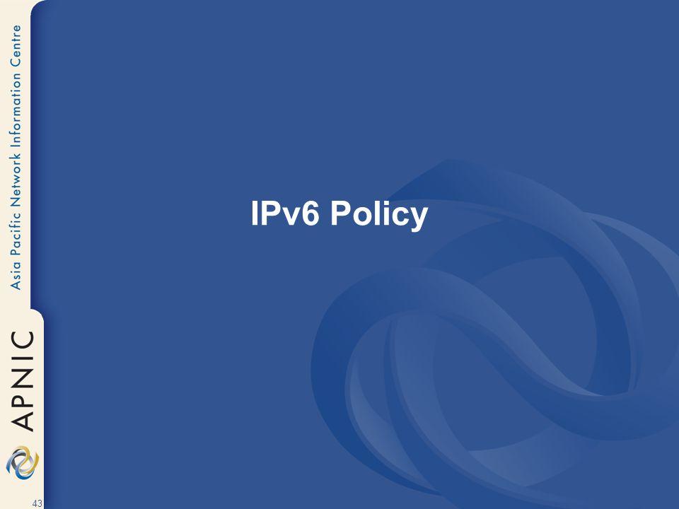 IPv6 Policy