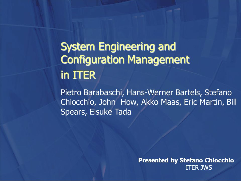 System Engineering and Configuration Management in ITER