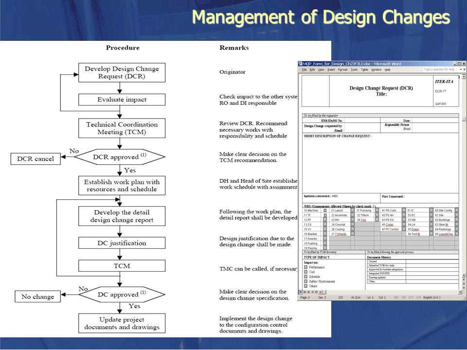 Management of Design Changes