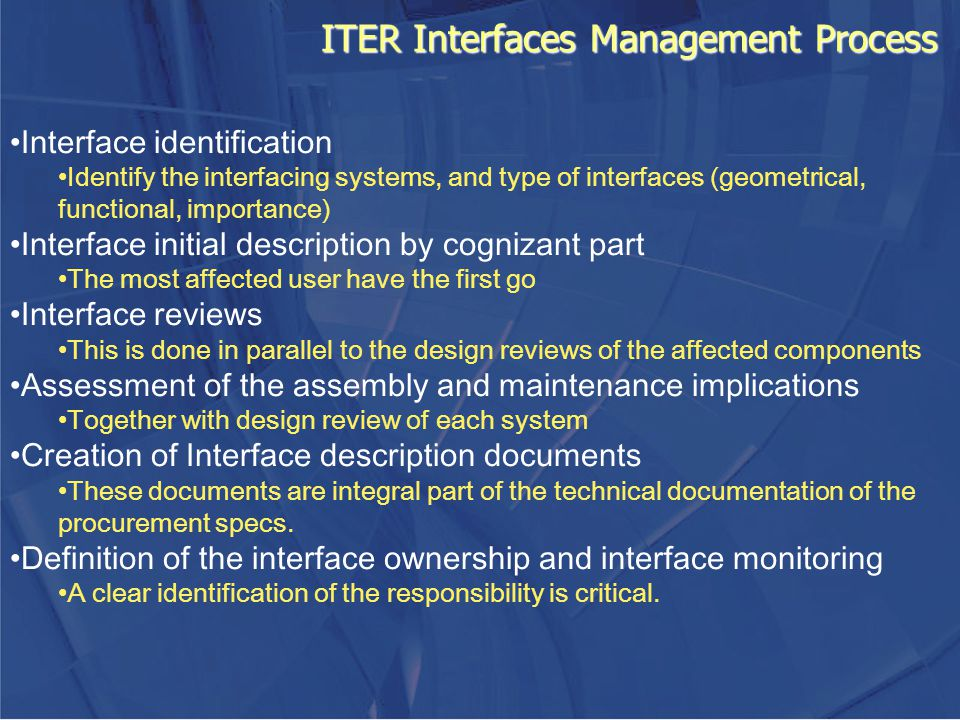 ITER Interfaces Management Process