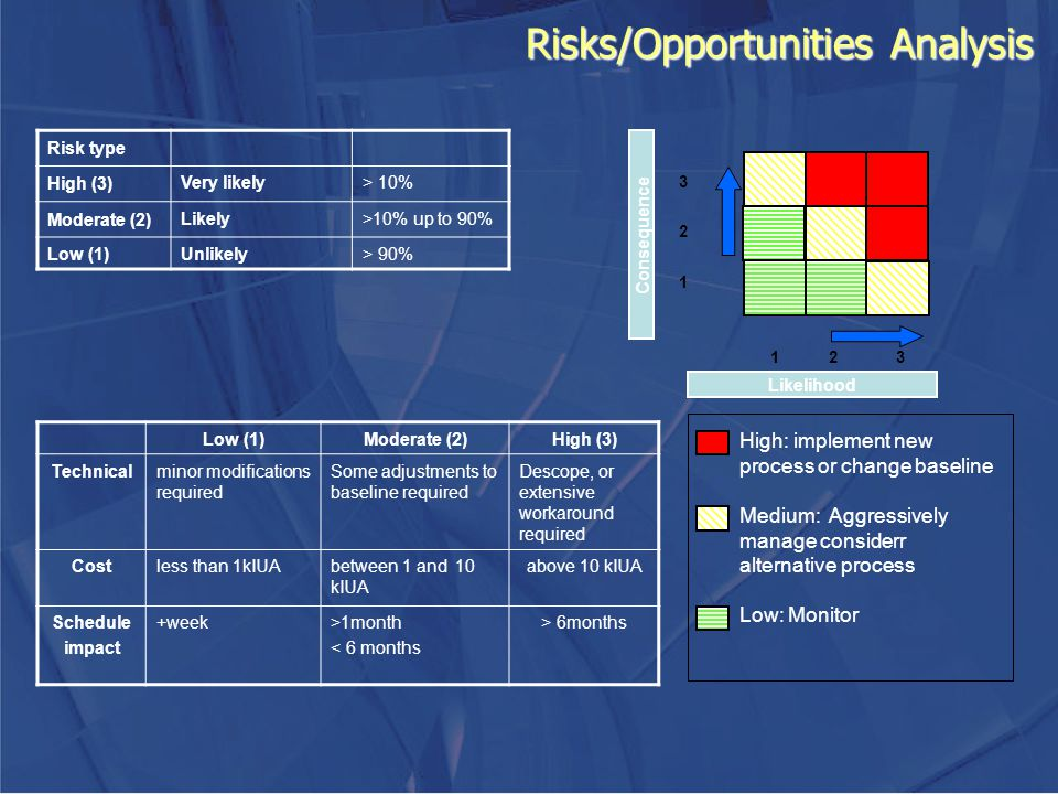 Risks/Opportunities Analysis