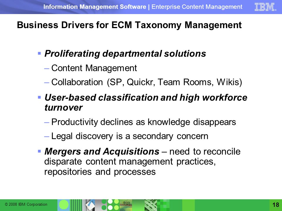 Business Drivers for ECM Taxonomy Management