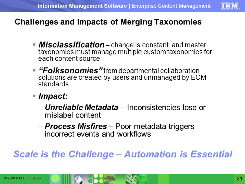 Challenges and Impacts of Merging Taxonomies