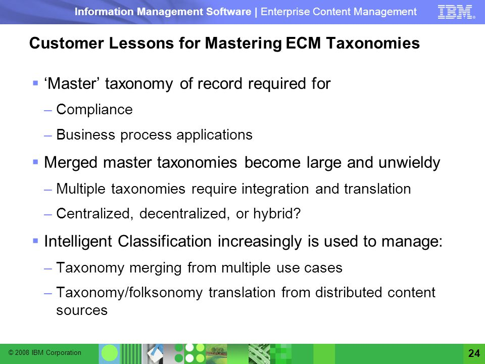 Customer Lessons for Mastering ECM Taxonomies