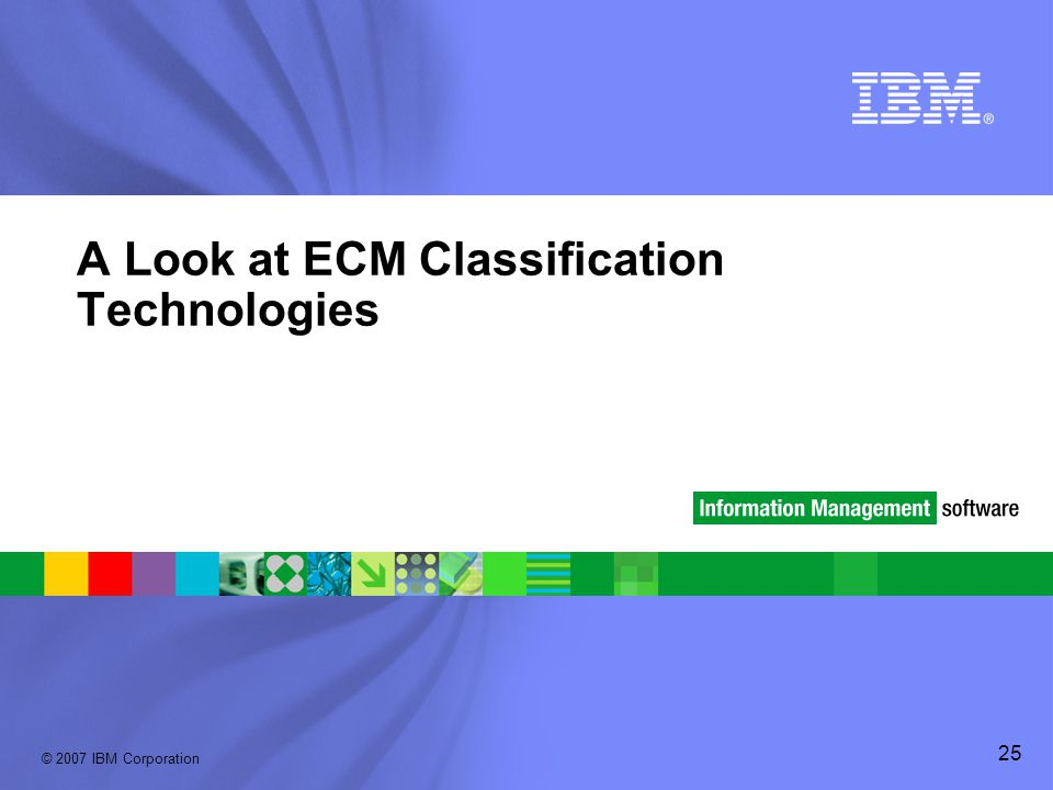 A Look at ECM Classification Technologies