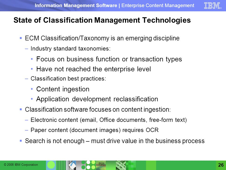 State of Classification Management Technologies