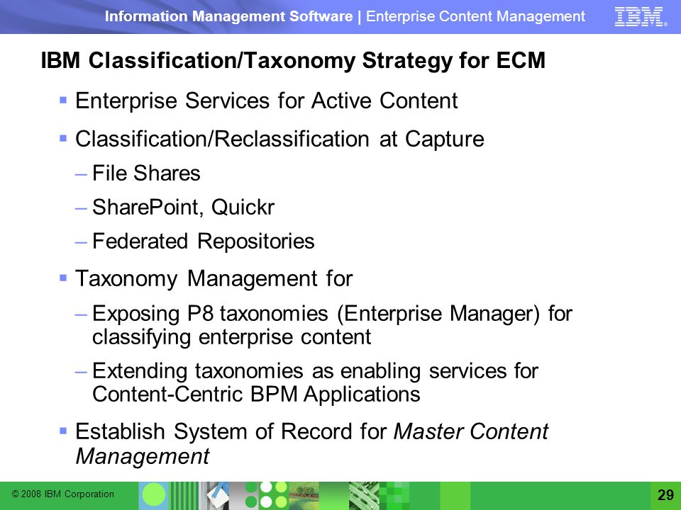 IBM Classification/Taxonomy Strategy for ECM