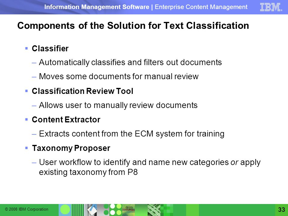 Components of the Solution for Text Classification