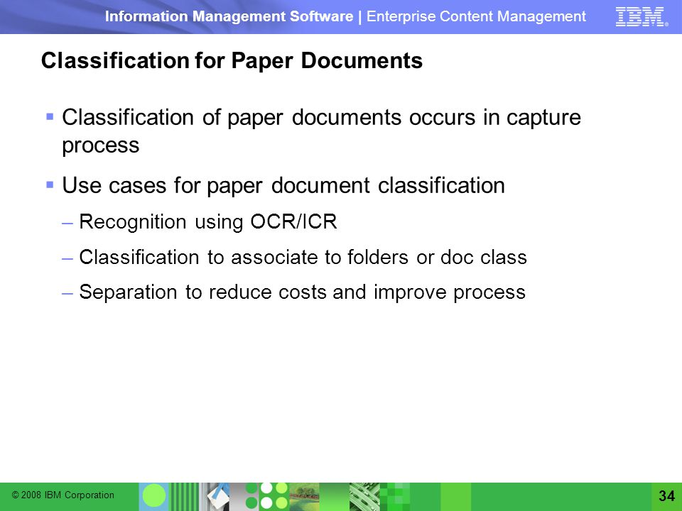 Classification for Paper Documents
