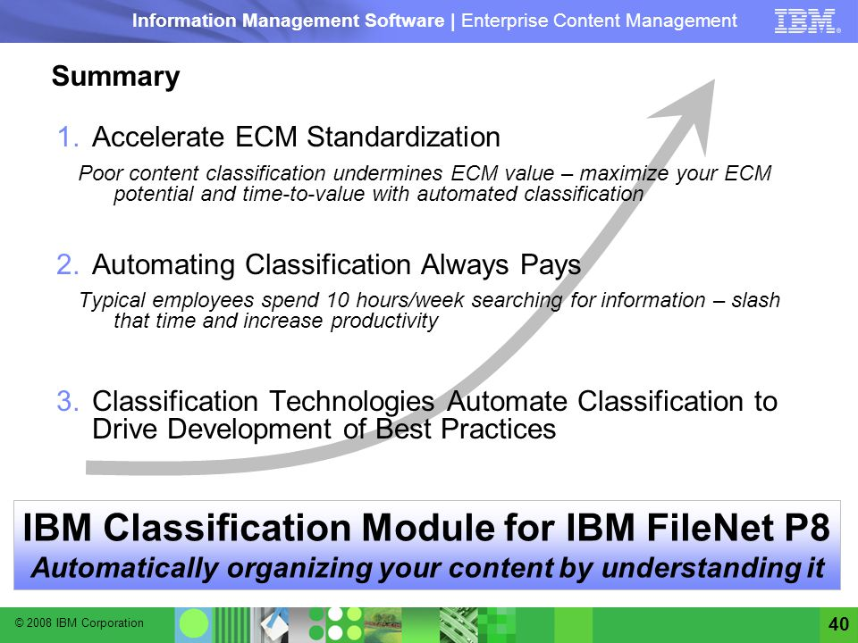 IBM Classification Module for IBM FileNet P8