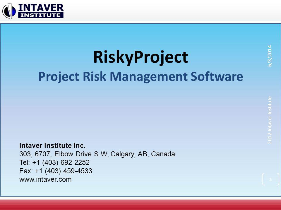 RiskyProject Project Risk Management Software