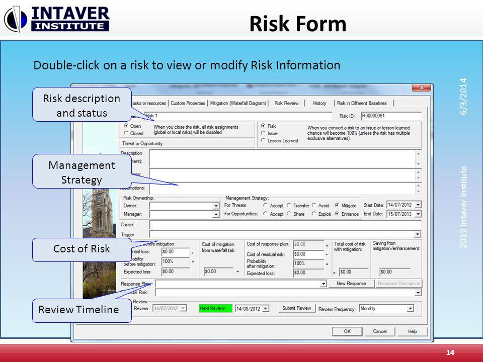 Risk description and status